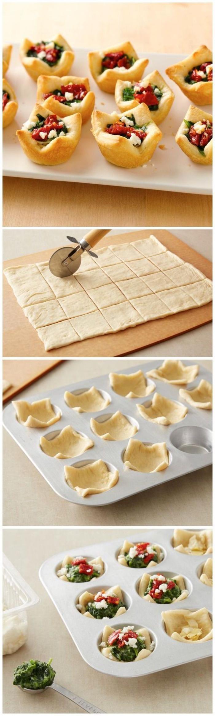 Antipasti veloci vegetariani e un tutorial per dei cestini di pasta sfoglia