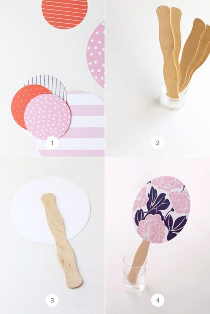Un'idea per attività da proporre ai bambini con stecchini di legno e cartoncini colorati e rotondi