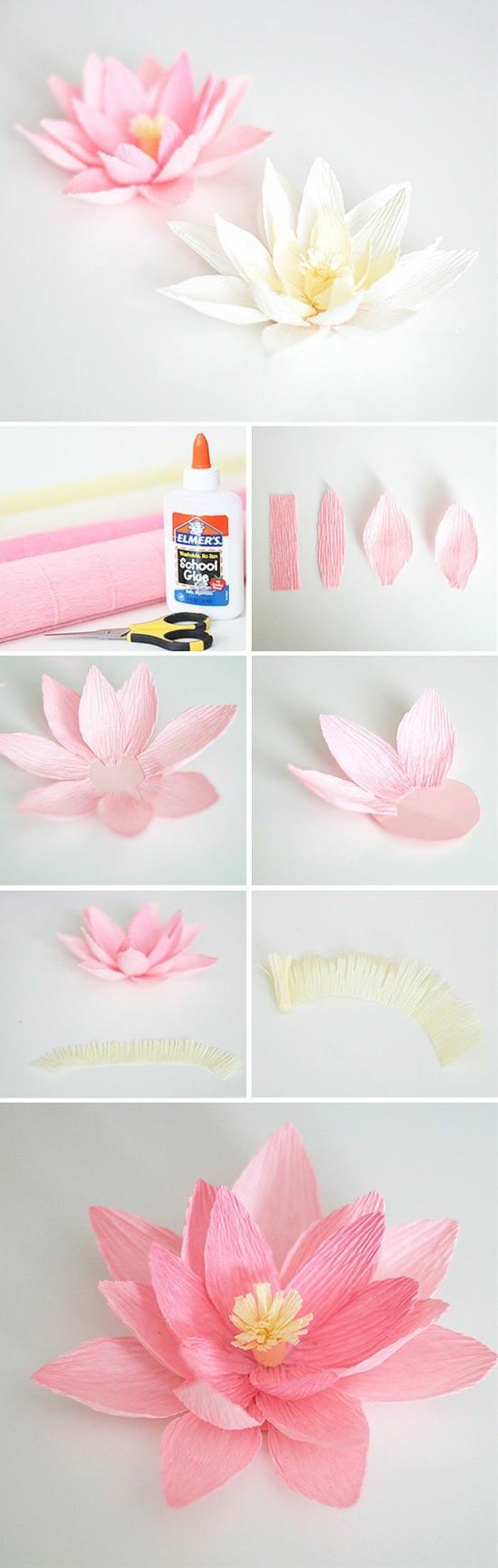 Idee artigianali con della carta, tutorial come realizzare dei fiori fai da te