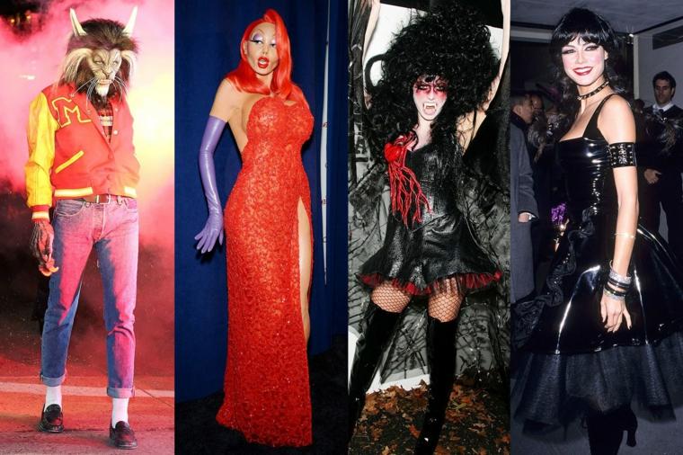 I travestimenti Halloween di Heidi Klum in una foto collage con quattro proposte