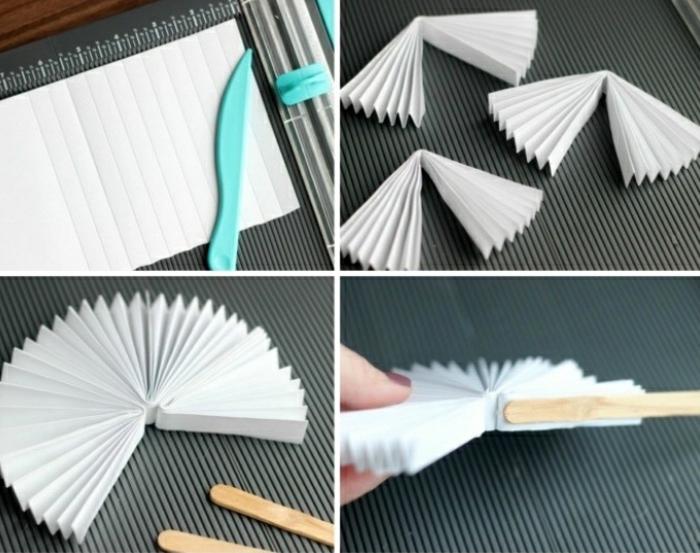Ventaglio di carta bianca e piccolo tutorial per la realizzazione
