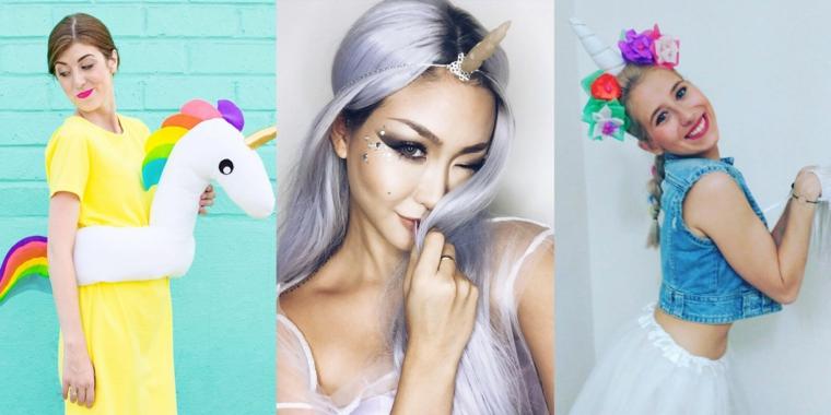Tre idee di abbigliamento e costume per Halloween per ragazze unicorno