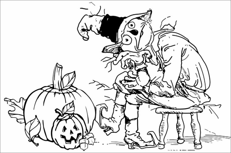 Zucca Halloween Da Colorare: 1001 + Idee Per Zucche Di Halloween Per Decorare La Casa