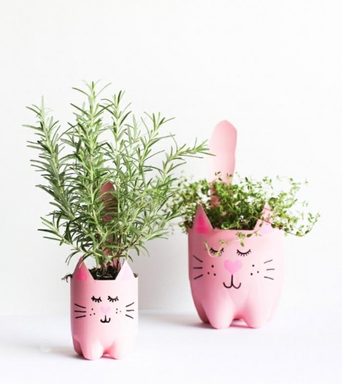 Attività innovative con il riciclo delle bottiglie di plastica, vasi fai da te per erbe aromatiche