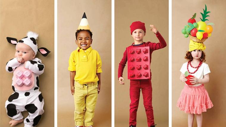 Costumi Halloween bambina, idea abbigliamento bambini come animali e personaggi Lego