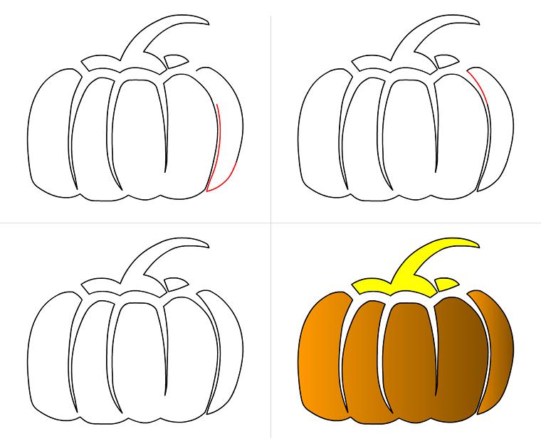 Lo stencil per decorare o disegnare le zucche di Halloween