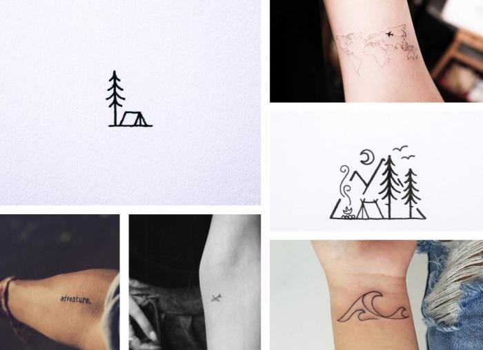 Tatuaggi piccoli particolari femminili e alcune idee ispirate al mare e la montagna