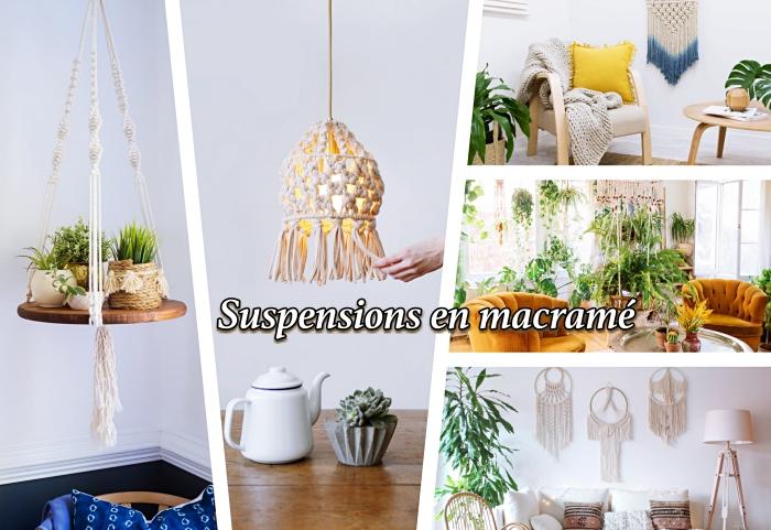 Idea macrame schemi da seguire per creare decorazioni a sospensione