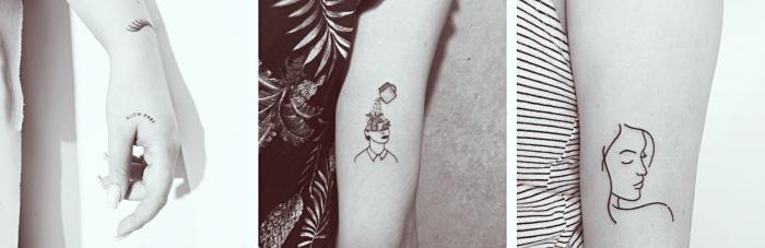 Tattoo femminili e un'idea con disegni sull'avambraccio e la mano