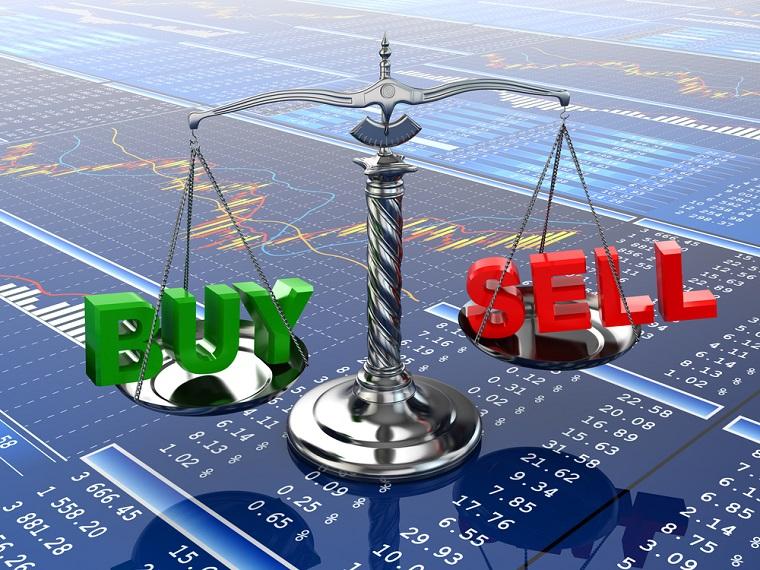 Attività redditizie e un'idea con le quotazioni della borsa mondiale delle società