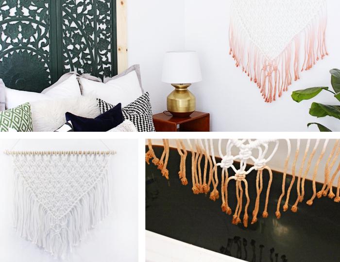 Macramè schemi e un'idea per la decorazione del soggiorno