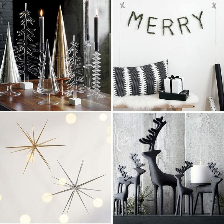 Lavoretti creativi Natale e un collage di idee per decorare la casa con ghirlande e vari ornamenti