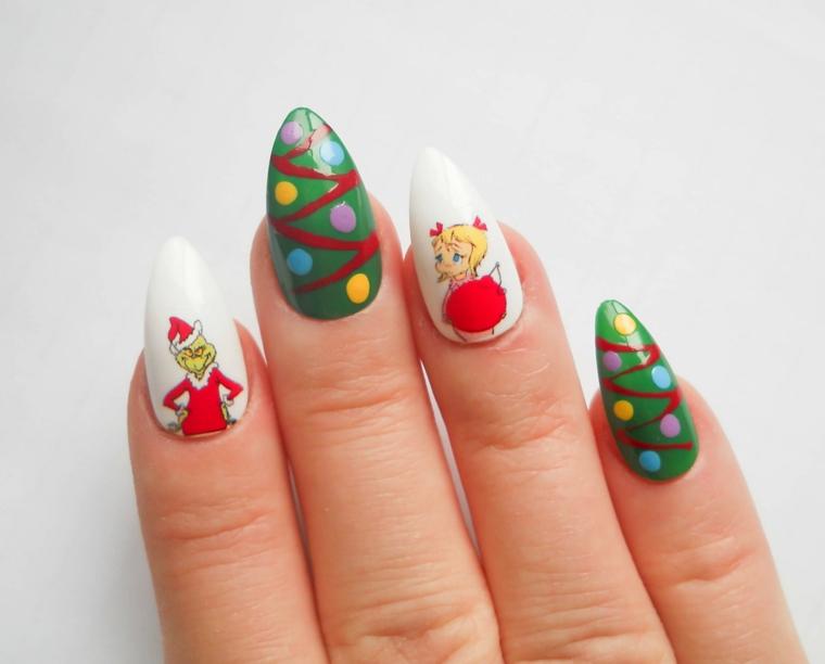 Semipermanente natalizio con disegni e sticker da attaccare sullo smalto