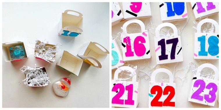 Lavoretti di Natale e un'idea per un calendario dell'avvento fatto di sacchettini di carta