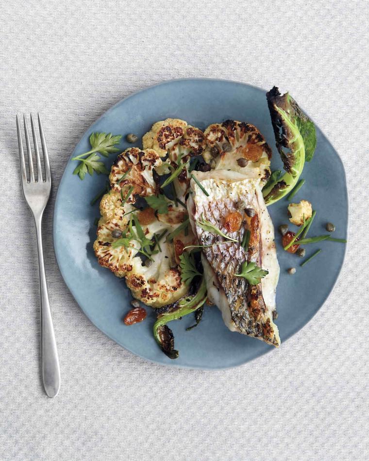 Ricette natalizie e un secondo di pesce alle erbette con contorno di cavolfiore al forno