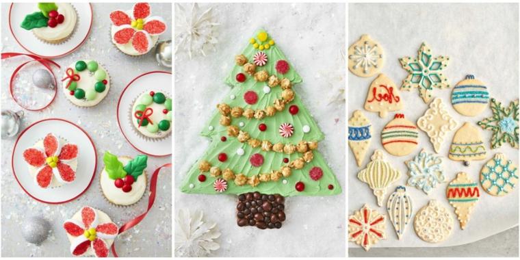 Biscotti di Natale di varie forme e decorazione con glassa reale colorata