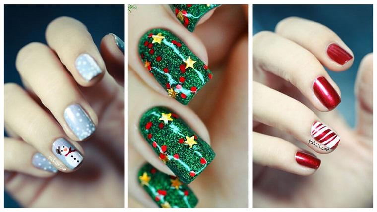 Tre idee per le unghie natalizie con disegni e smalti con glitter integrati