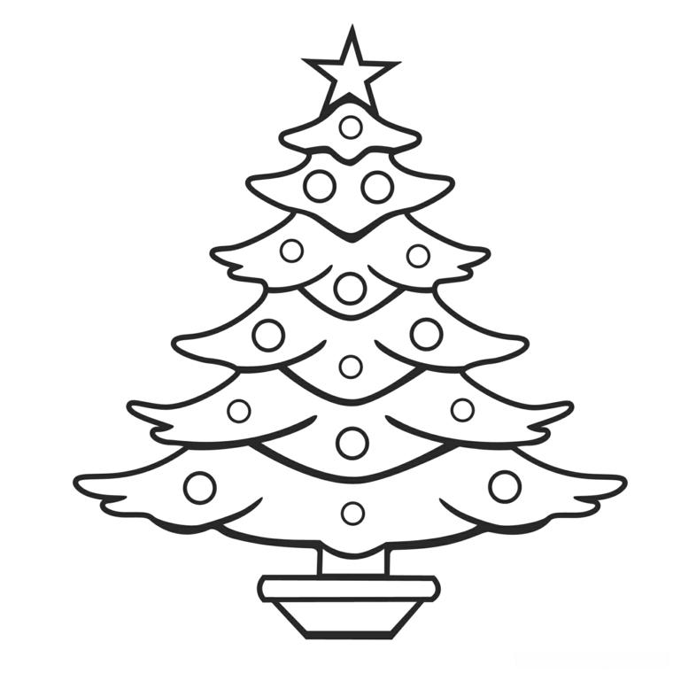 Lavoretti di Natale, albero natalizio con palline, stella in cima all'albero