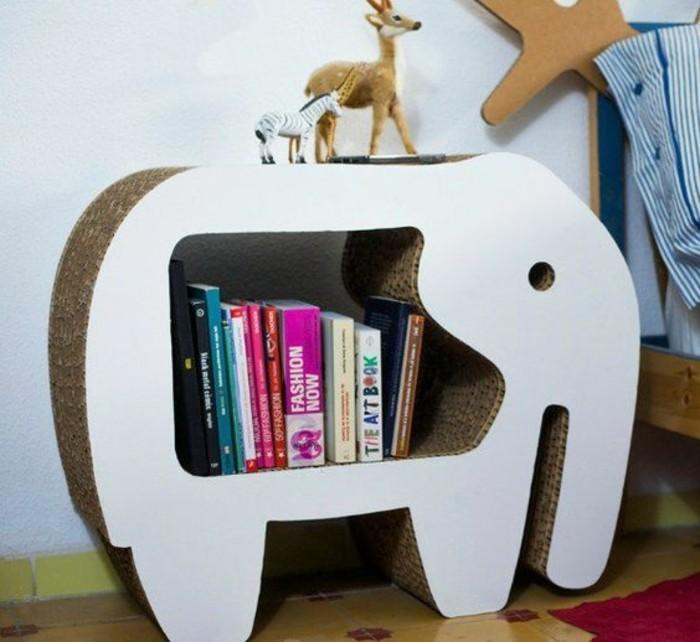 Come costruire un mobile con le scatole di cartone ondulato dalla forma di un elefante