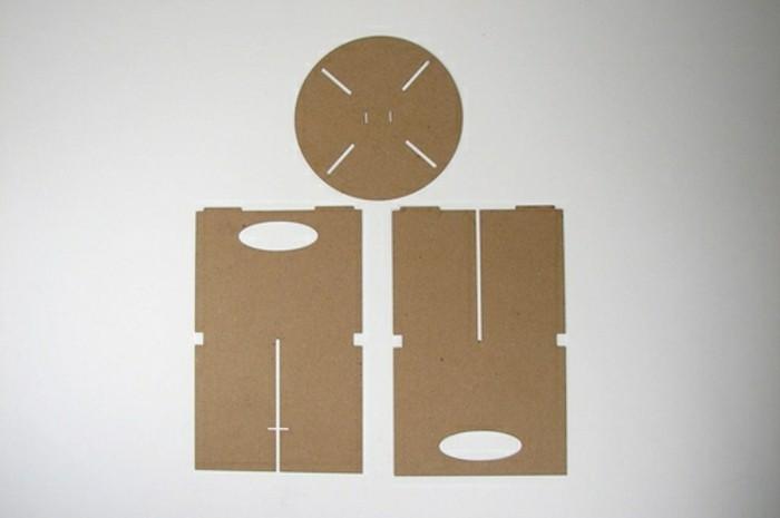 Arredamento fai da te con il cartone, i tre elementi per costruire una sedia