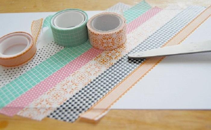 Un'idea per dei lavoretti per bambini facili con i nastri washi tape