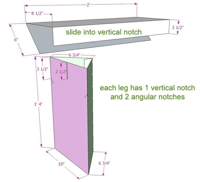 Costruire un mobile di cartone e schema da seguire con le misure e le istruzioni