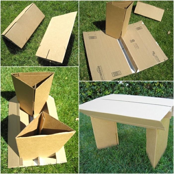 Come costruire un mobile con il cartone, tutorial per creare un tavolo