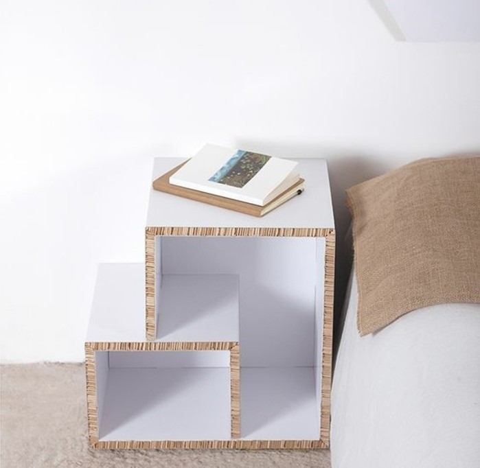 Mobili fai da te e un'idea per la costruzione di un comodino di cartone