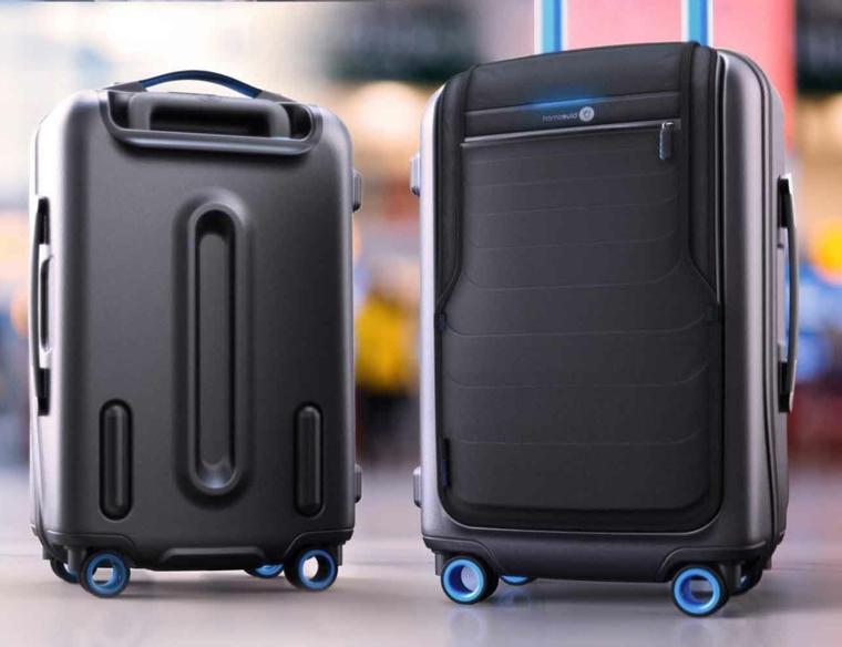 Cosa regalare ad un uomo per il suo compleanno, due valigie nere con smart tecnologia