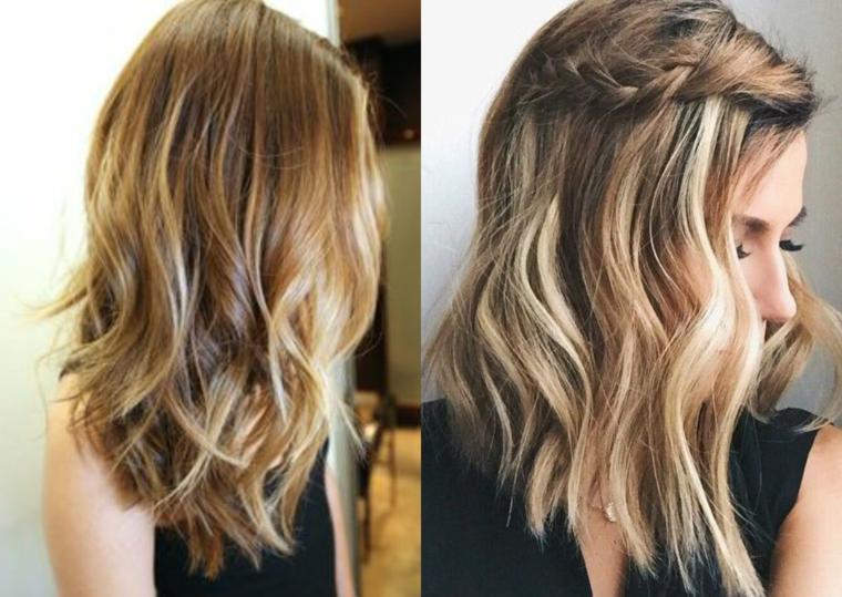 Acconciature capelli raccolti per cerimonia, capelli biondi taglio medio