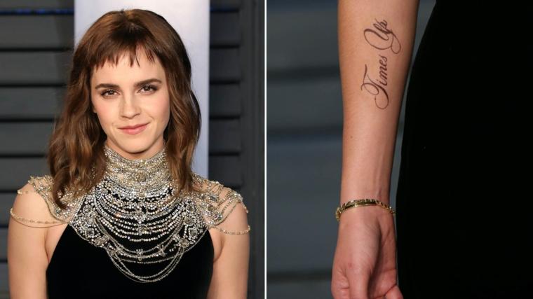 Frasi belle sulla vita e sull'amore, Emma Watson con capelli mossi, tatuaggio sull'avambraccio