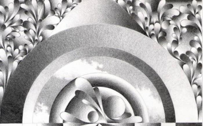 Disegni a matita semplici, disegno con forme geometriche
