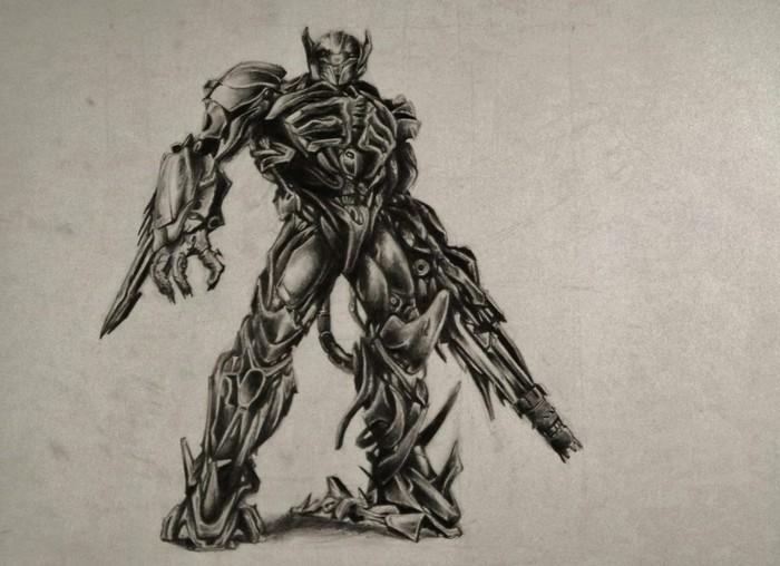 Disegni a matita facili ma belli, disegno di un robot