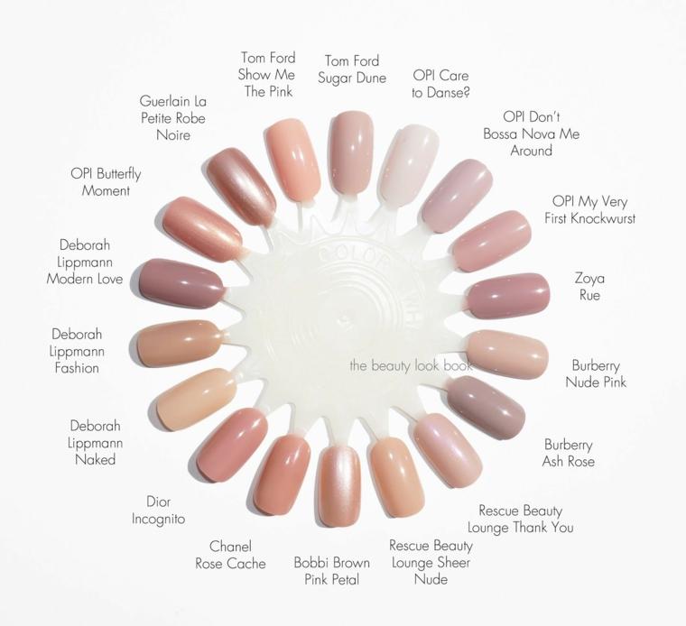 Colori unghie finte, tonalità del rosa, nail art rosa stilizzata