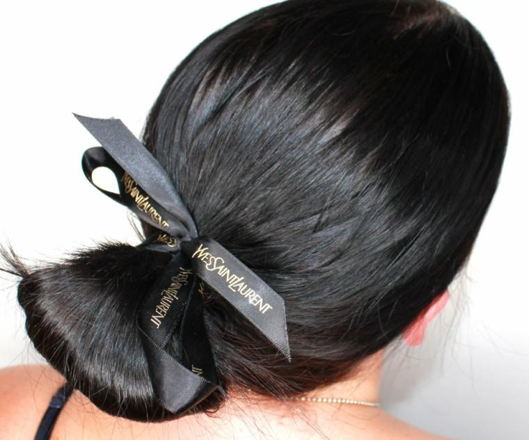 Capelli legati a chignon, tendenze colore capelli autunno inverno 2019