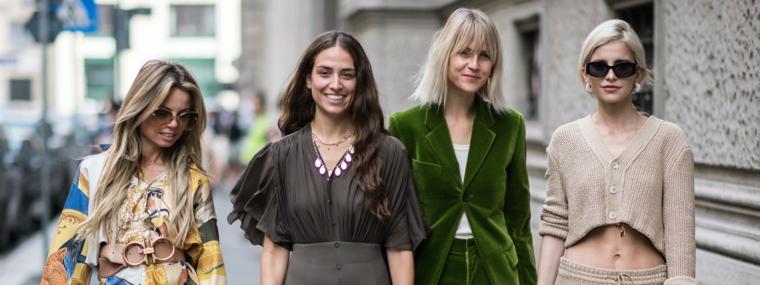 Tendenze colore capelli autunno inverno 2019, quattro donne con abbigliamento casual