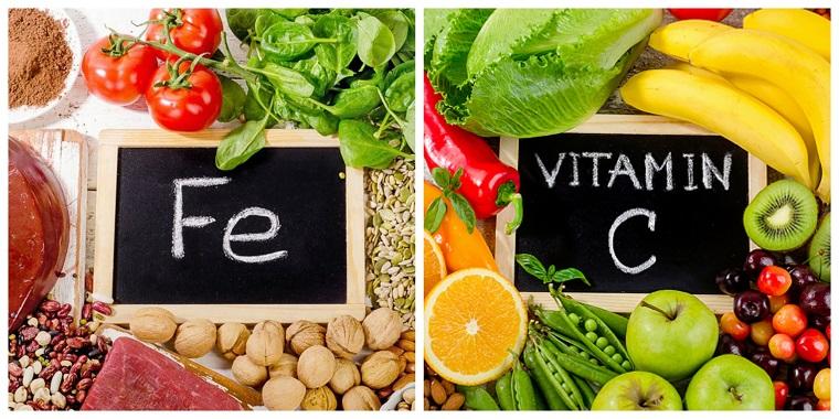 Ferro e Vitamina C, frutta e verdura, carne e spezie, alimentazione equilibrata