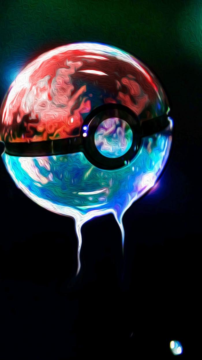 Sfondi più belli del mondo, la palla di Pokemon, sfondo immagine nero
