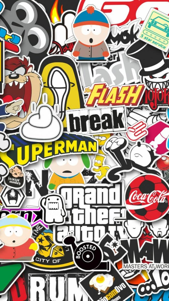 Sfondi per iphone, scritte in inglese, personaggi dei cartoni animati