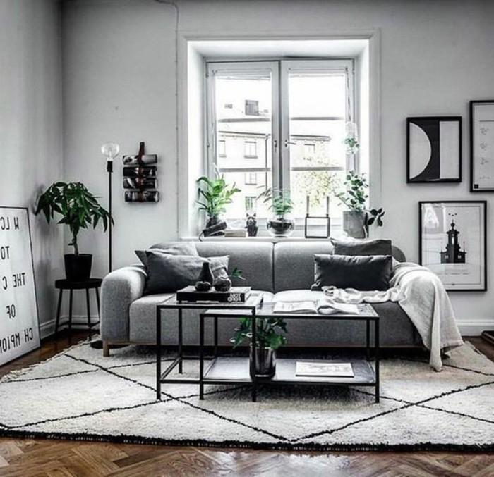 1001 idee per soggiorno bianco e grigio di design for Decorazioni per pareti soggiorno