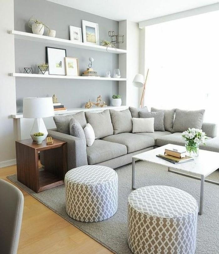 ▷ 1001 + Idee per Soggiorno bianco e grigio di design