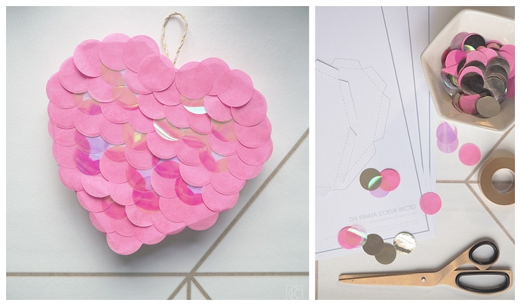 Scatola a forma di cuore, idee regalo mamma, tutorial per decorate una scatola