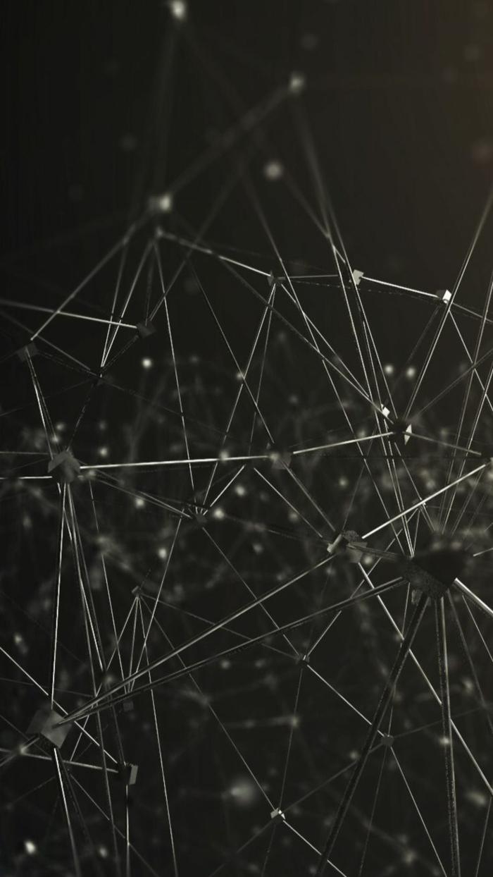 Costruzione di metallo, costruzione con forme geometriche, foto sfondi per il cellulare