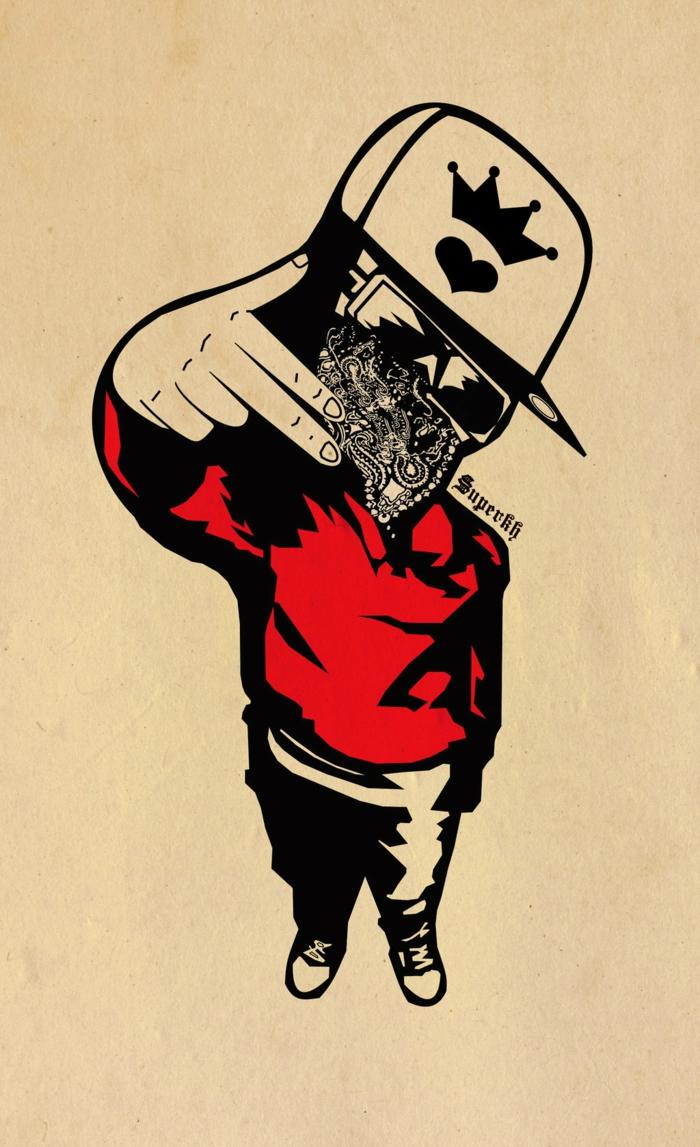Disegno di un ragazzo, ragazzo con cappello, immagini sfondo per il cellulare