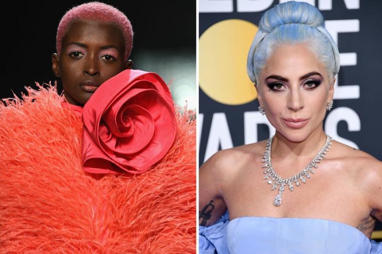 Tendenze capelli 2019, Lady Gaga con capelli blu