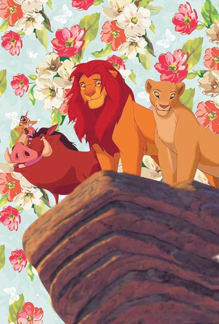 Immagini da mettere come sfondo, disegno di Re Leone, disegni di fiori