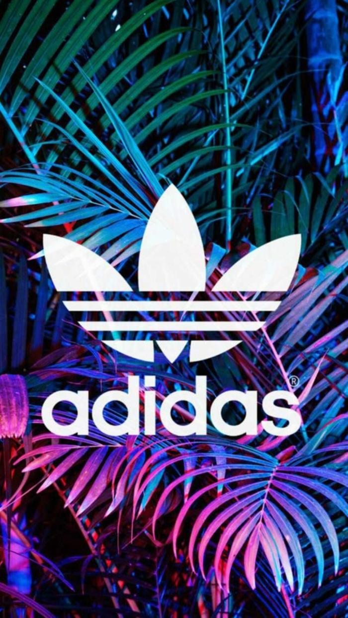 Il lodo della Adidas, immagini sfondo, piante con foglie verdi