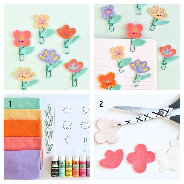 Cosa regalare per la festa della mamma, fermafogli con fiorellini