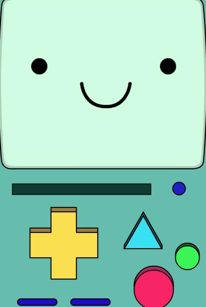 Disegno di una faccina, gioco con tasti, foto per schermo telefono