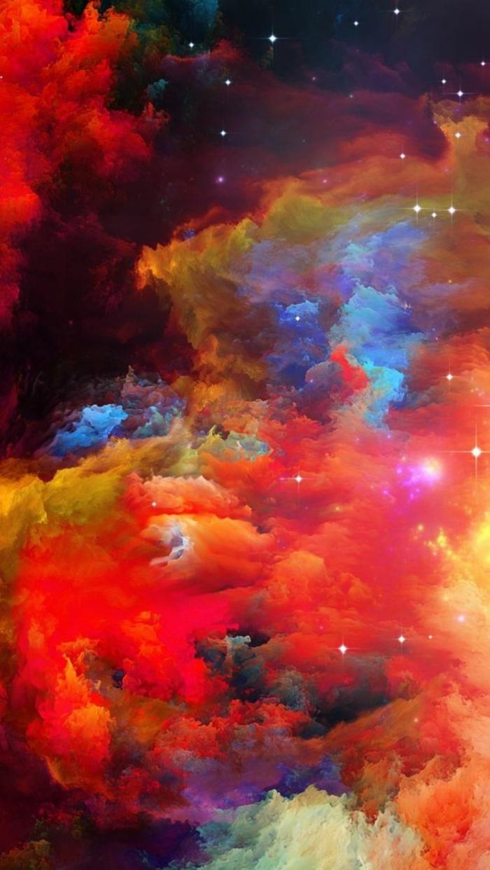 Macchie di vario colore, immagine per lo schermo cellulare